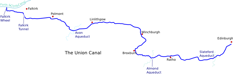 Map of Union Canal